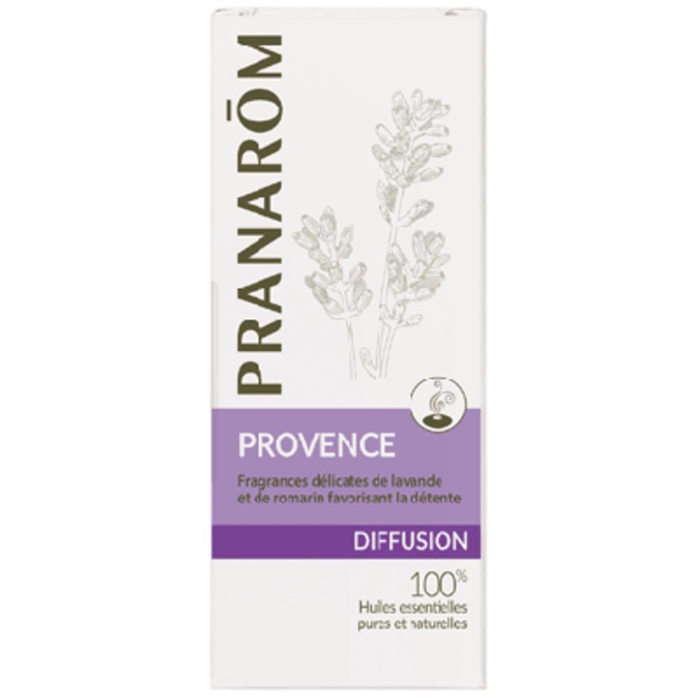 Pranarom diffusion provence 30ml - 30.0 ml - synergies d'huiles essentielles - pranarom Ambiance provençale. Délicates fragances de lavande et de romarin-12429
