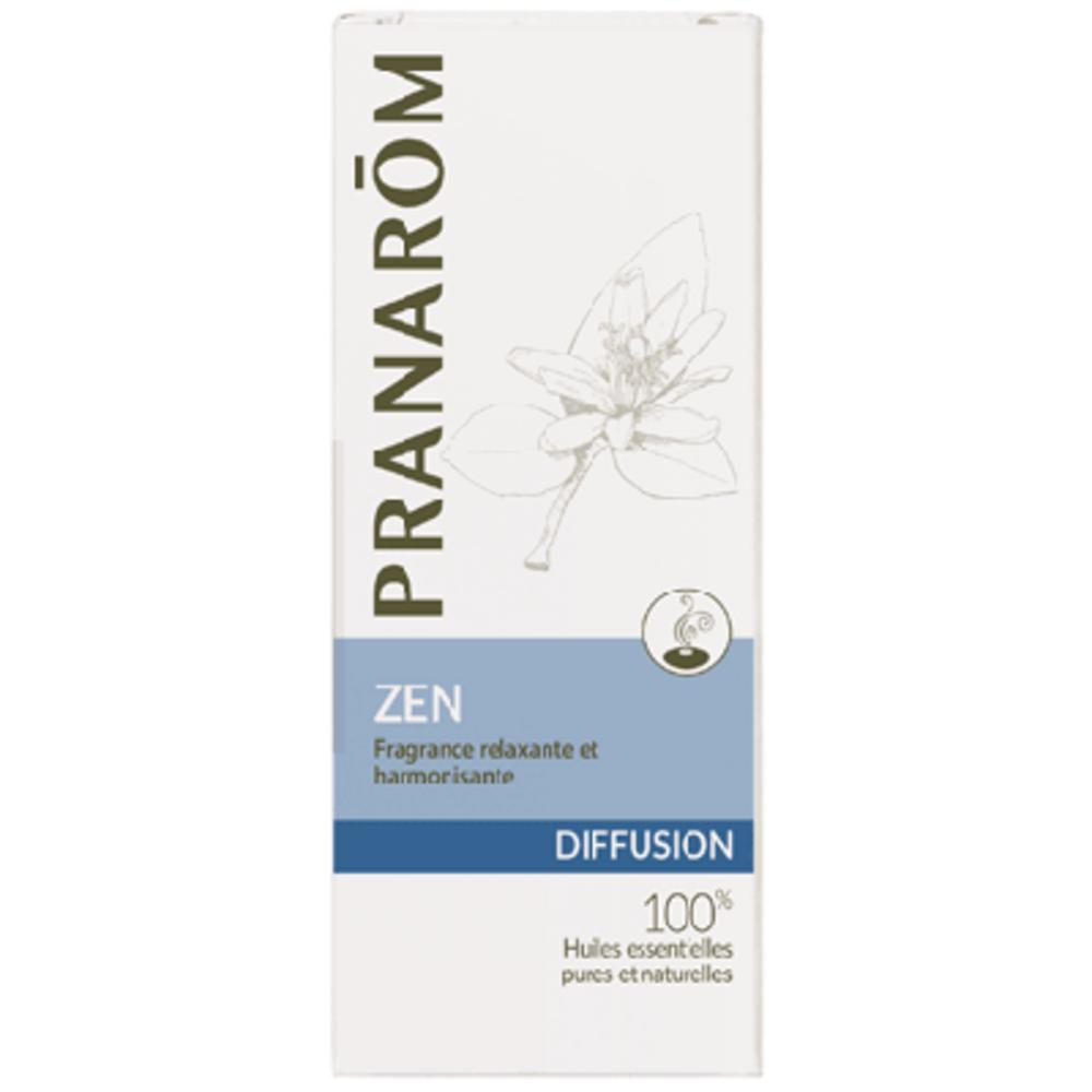 Pranarom diffusion zen 30ml - 30.0 ml - synergies d'huiles essentielles - pranarom Prédispose au calme, à la relaxation, à l'harmonie-12424