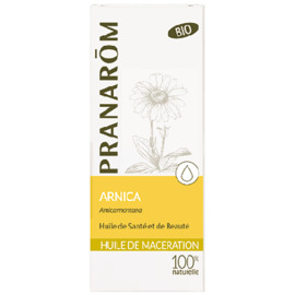 Pranarom huile de macération arnica bio 50ml - 50.0 ml - huiles végétales - pranarom raideurs des articulations, muscles courbaturés-12389