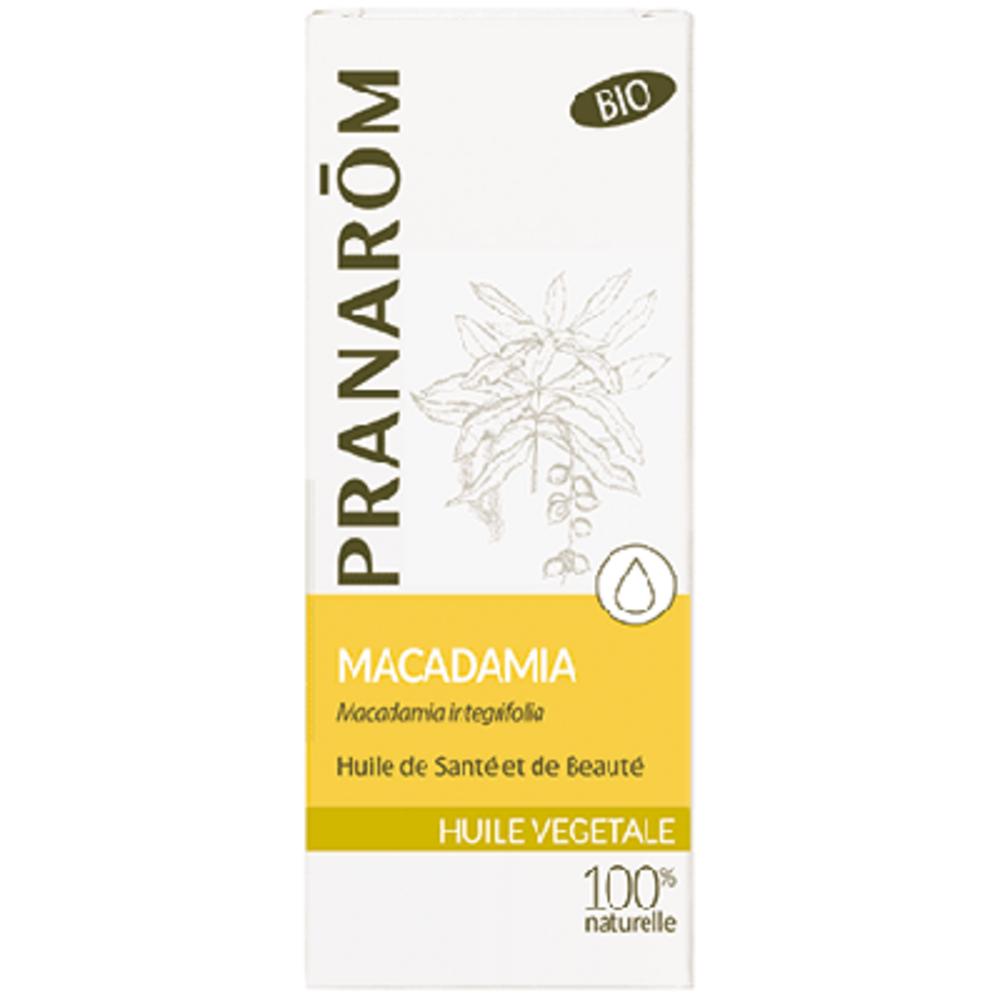 Pranarom huile végétale macadamia bio 50ml - 50.0 ml - huiles végétales - pranarom -12397