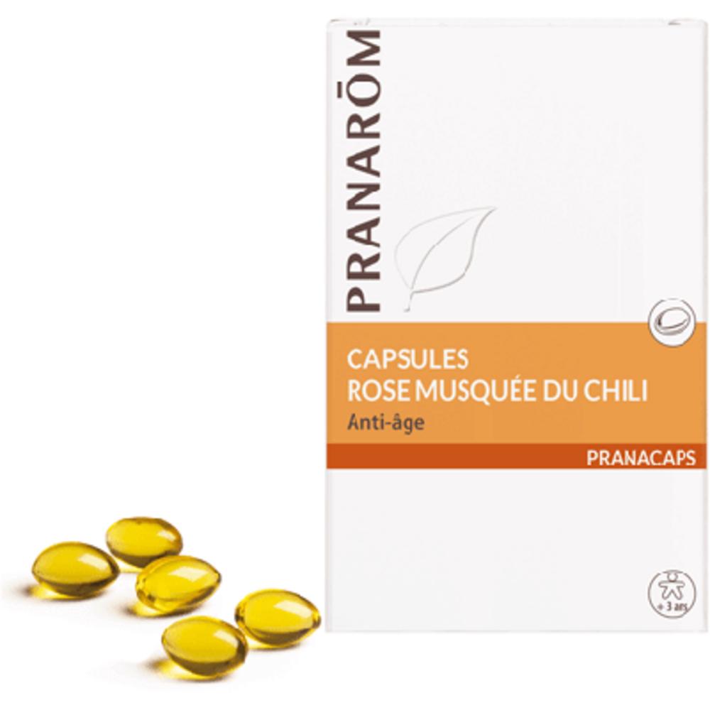 Pranarom pranacaps rose musquée du chili 40 capsules - 40.0 unites - capsules oléagineuses - pranarom Anti-âge, peau jeune-12413