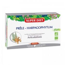 Prêle - harpagophytum ampoules bio - 20.0 unites - ossature - articulations - super diet Solidité des os-4450
