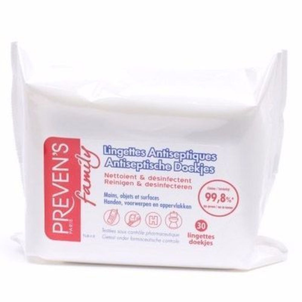Preven's family lingettes antiseptiques x30 - preven's -191975