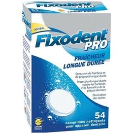 Pro extra fraîcheur longue durée 54 comprimés nettoyants - fixodent -145774