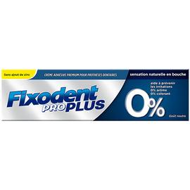 Pro plus 0% crème adhésive 40g - 40.0 g - fixodent -143583
