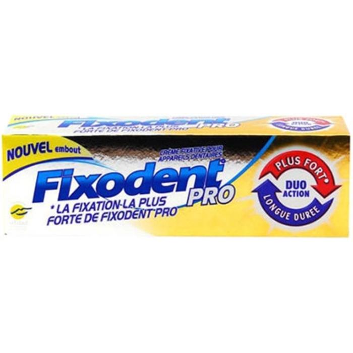 Pro plus duo action crème adhésive 40g Fixodent-145455