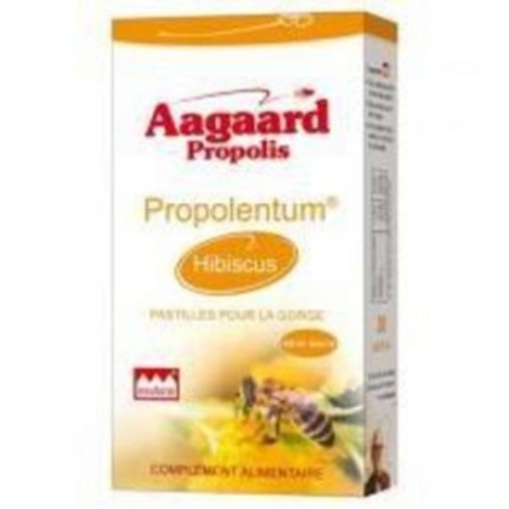 Propolentum + hibiscus - 30.0 unites - Pratiques - Aagaard Propolis Adoucit les gorges sensibles-1068