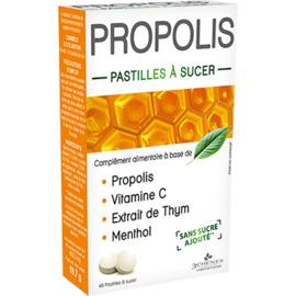 Propolis pastilles à sucer 40 pastilles - 40.0 unites - 3 chenes -11861