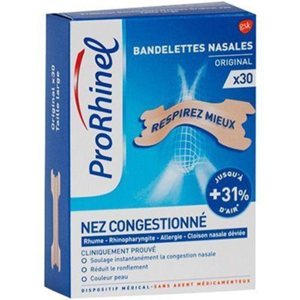 Prorhinel bandelettes nasales original x30 - prorhinel -221679