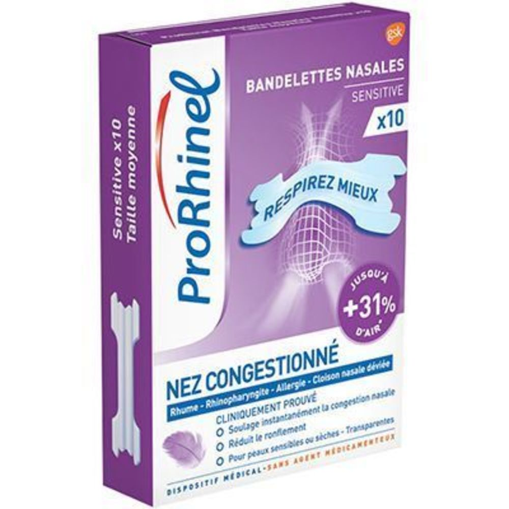 Prorhinel bandelettes nasales sensitive x10 - prorhinel -225891