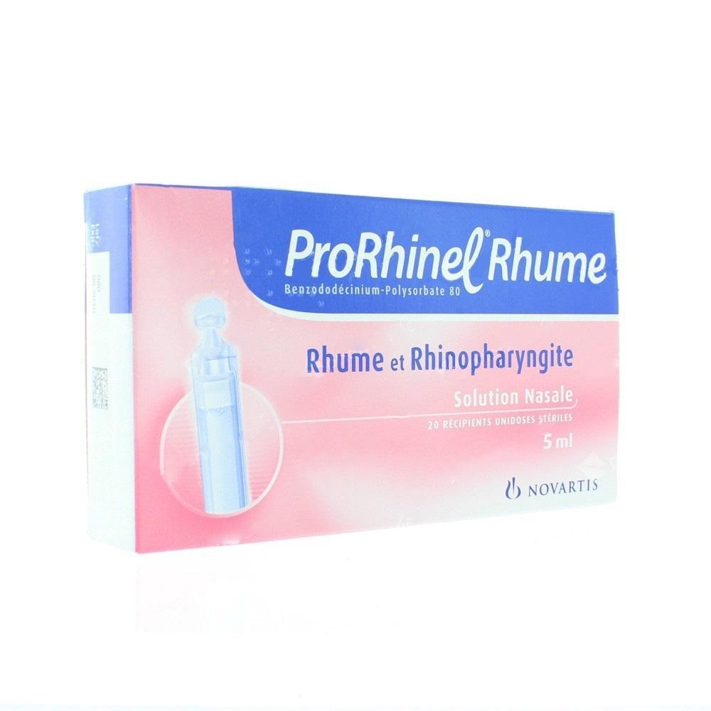 Prorhinel rhume - 20 unidoses x - 5.0 ml - novartis -192933