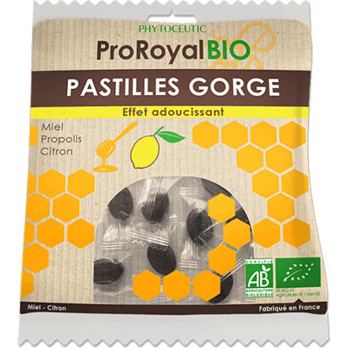 Proroyal bio pastilles gorge miel citron 50g Phytoceutic-222636