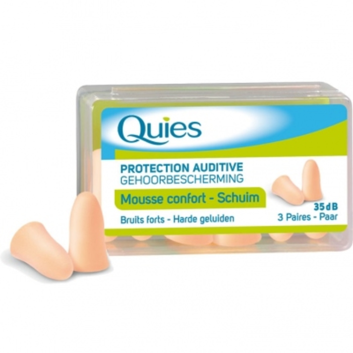 Protection auditive mousse confort beige Quies-191250