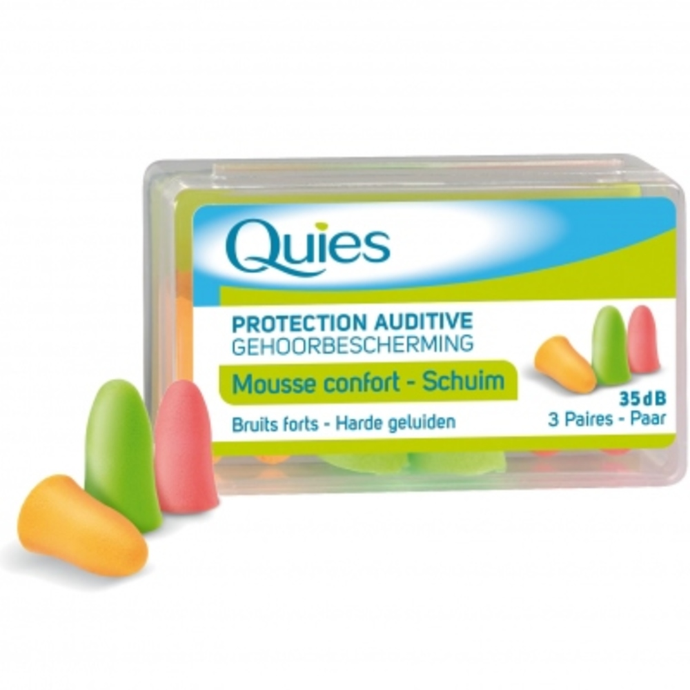Protection auditive mousse confort couleur - quies -144246