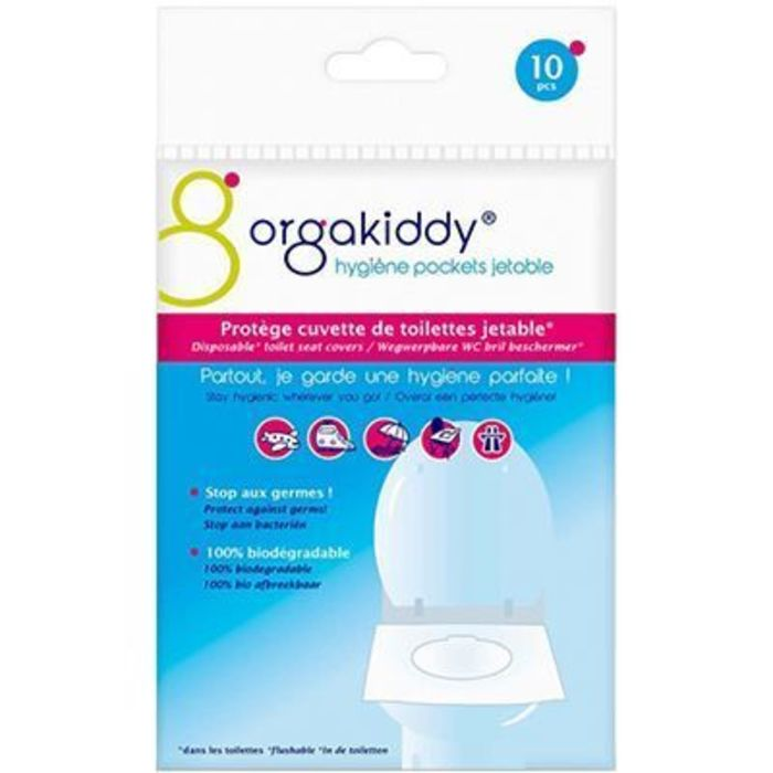 Protège cuvette de toilettes jetable normal x10 Orgakiddy-223746