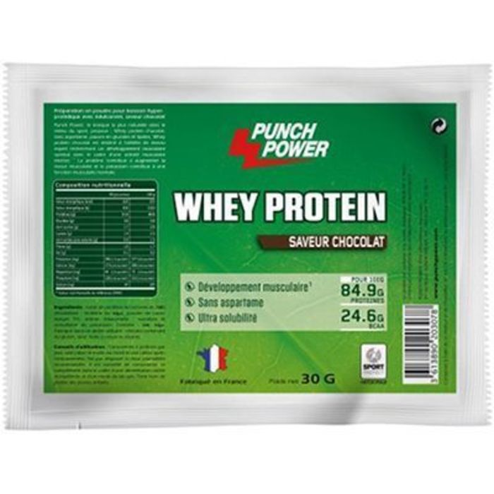 Punch power whey protein chocolat 30g Punch power-223499