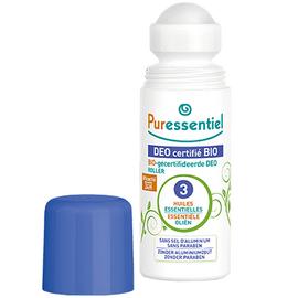Puressentiel déo certifié bio roller - 50.0 ml - déo certifié bio - puressentiel -109928