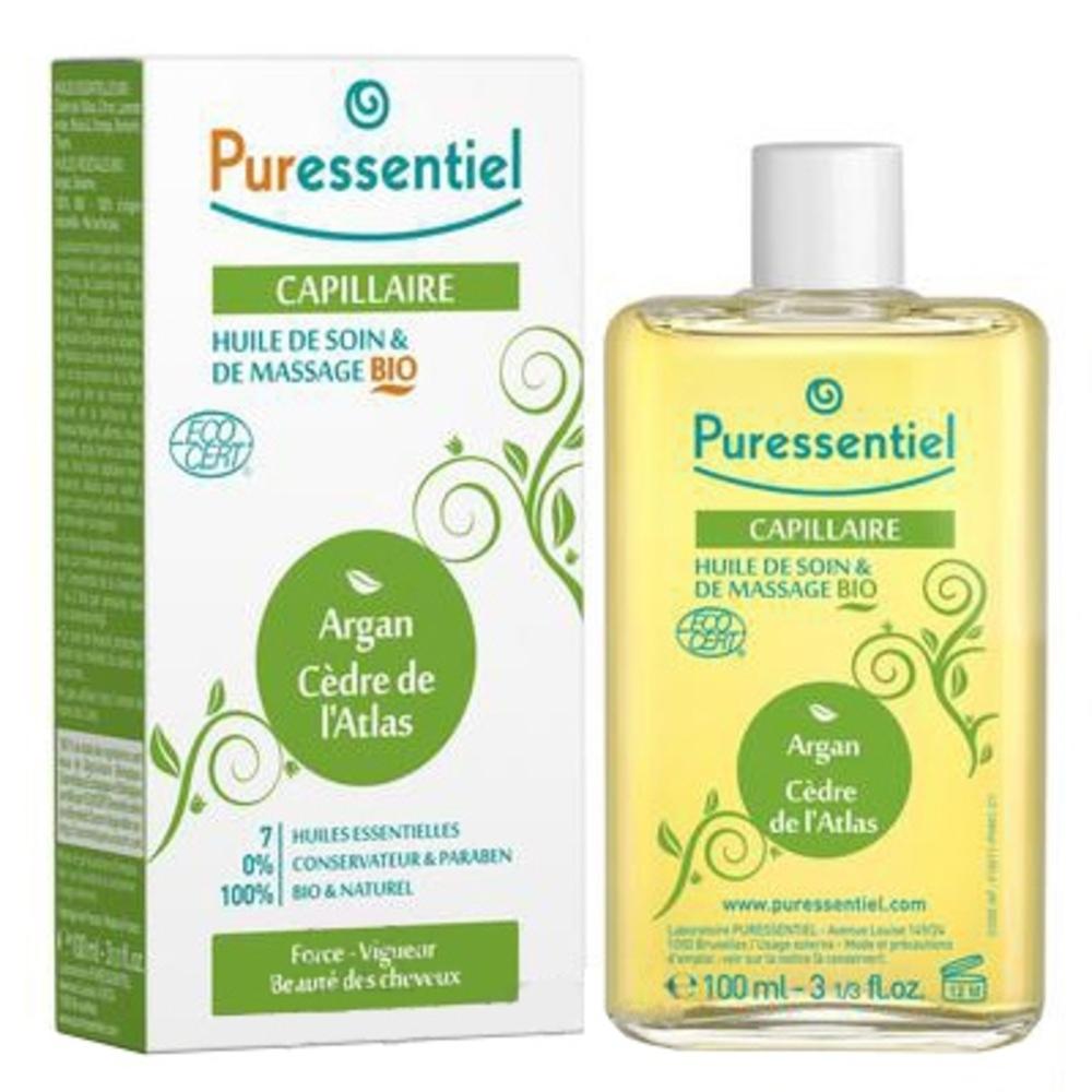 Puressentiel duo-oils capillaire - 100ml - 100.0 ml - massage bio - puressentiel ARGAN - CÈDRE DE L'ATLAS-13340