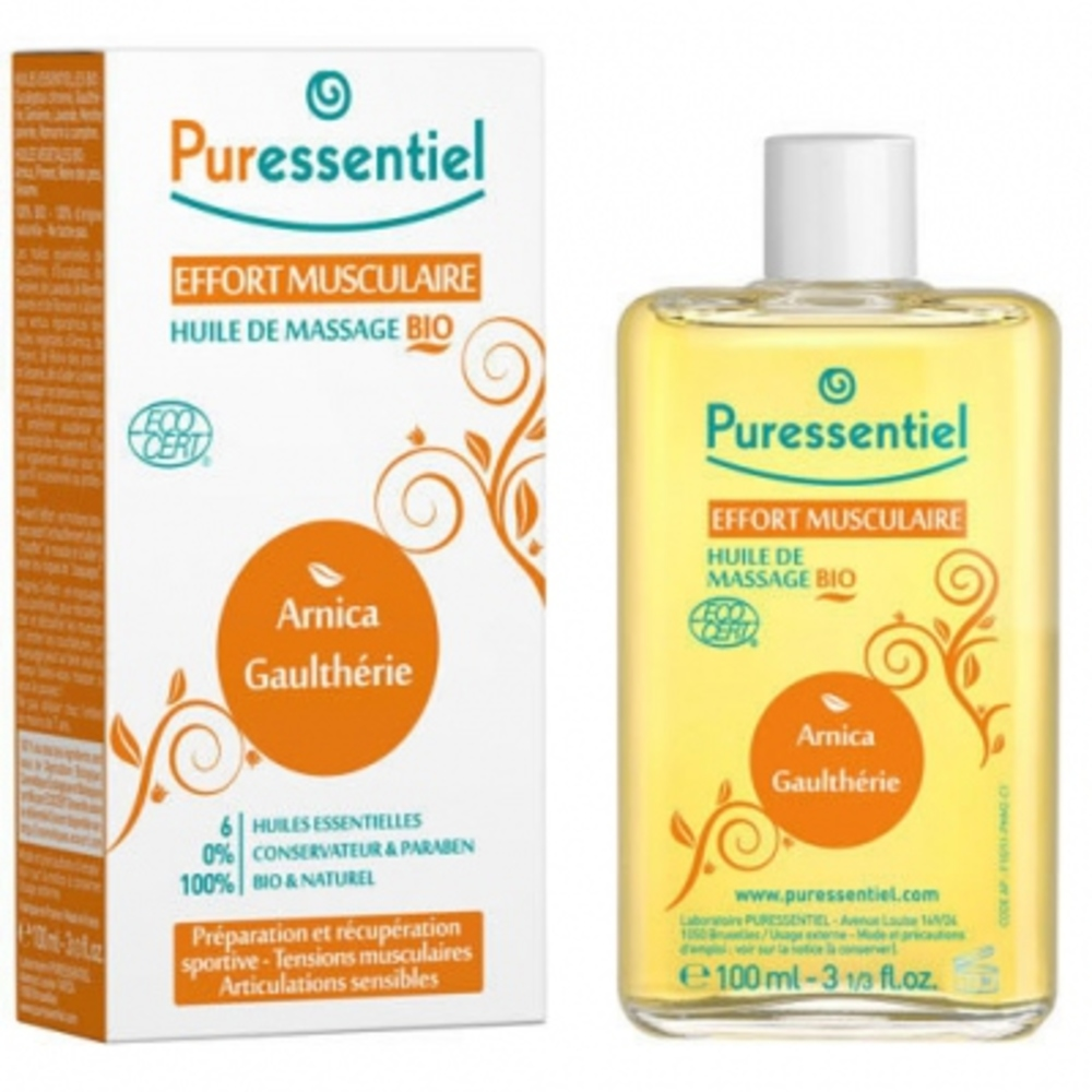 Puressentiel effort musculaire huile de massage - 100ml - 100.0 ml - massage bio - puressentiel ARNICA - GAULTHÉRIE-13335