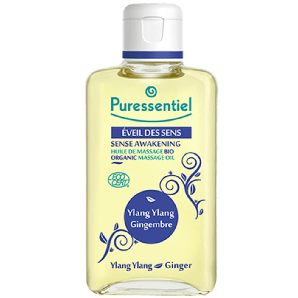 PURESSENTIEL Eveil des Sens Huile de Massage Bio - 100.0 ml - Massage bio - Puressentiel YLANG YLANG - GINGEMBRE-13337
