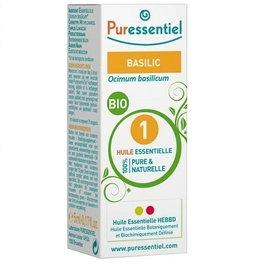 Puressentiel huile essentielle basilic bio - 5.0 ml - huiles essentielles - puressentiel -130696