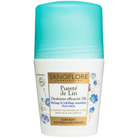 Pureté de lin deo roll-on 24h - 50ml - 50.0 ml - sanoflore -146889