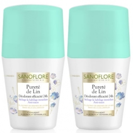Pureté de lin déodorant roll-on - lot de 2 - sanoflore -201702