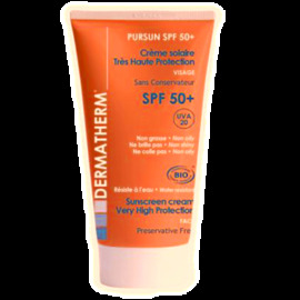 Pursun visage spf50+ - 30.0 ml - solaire - dermatherm Crème solaire très haute protection visage-130159