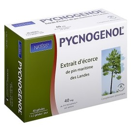 Pycnogenol confort circulatoire 40 mg - 40.0 unites - confort circulatoire - natésis Confort circulatoire et action anti-oxydante-9509