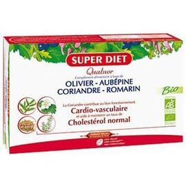 Quatuor cardiovasculaire bio 20 ampoules - super diet -220576