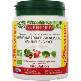 Quatuor circulation 150 gélules - super diet -226739