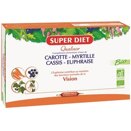 Quatuor vision bio - 20 ampoules - 20.0 unites - les quatuors - super diet -142686