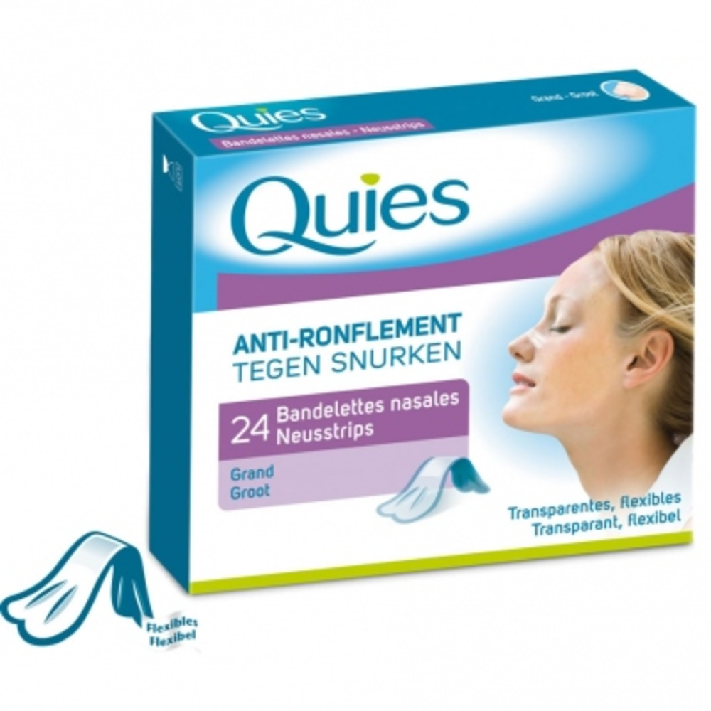 Quies anti-ronflement bandelettes nasales grand modèle - quies -145213