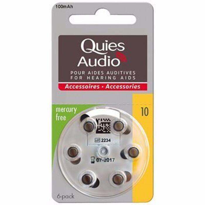 Quies audio piles modèle 10 x6 Quies-216839