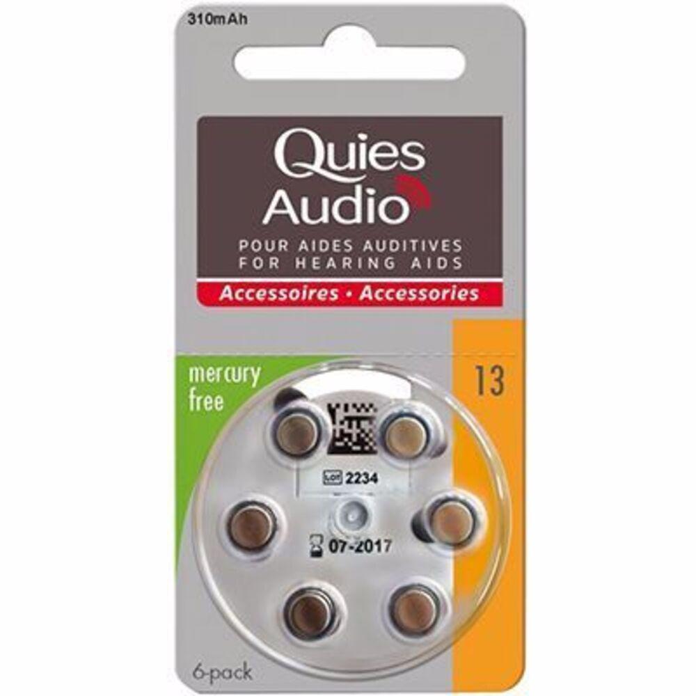 Quies audio piles modèle 13 x6 Quies-216837