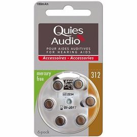 Quies audio piles modèle 312 x6 - quies -216838
