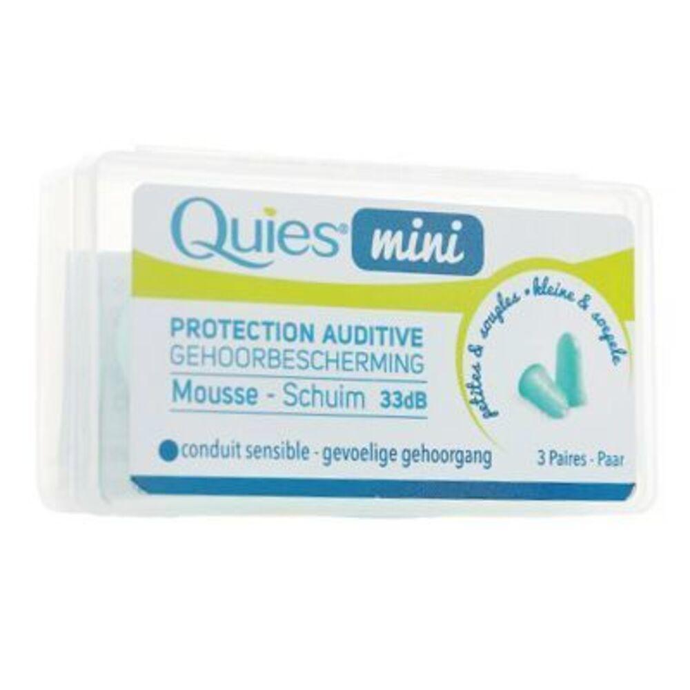 Quies mini protection auditive mousse 3 paires - quies -220413