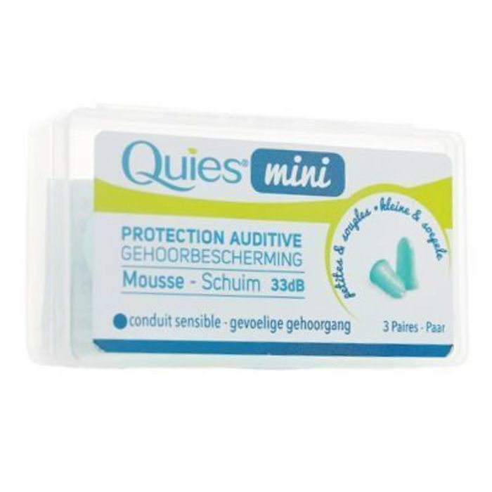 Quies mini protection auditive mousse 3 paires Quies-220413