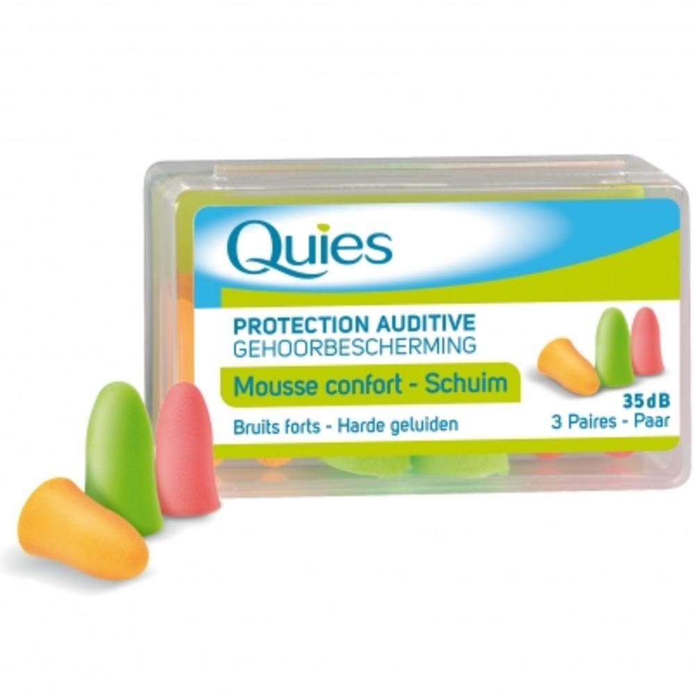 QUIES Protection Auditive Mousse Confort Couleur - Quies -144246