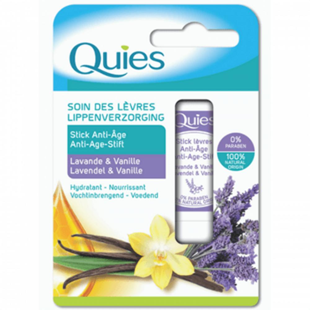 Quies soin des lèvres stick anti-age lavande & vanille 4,5g Quies-221299