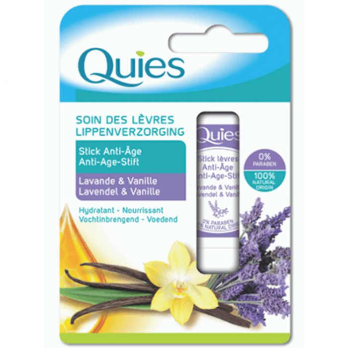 Quies soin des lèvres stick anti-age lavande & vanille 4,5g Quies-221299