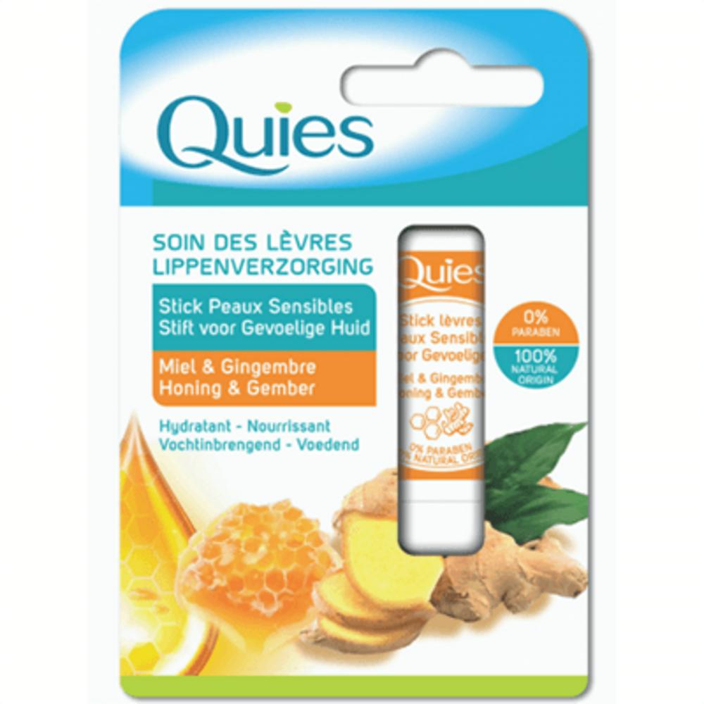 Quies soin des lèvres stick peaux sensibles miel & gingembre 4,5g Quies-221300
