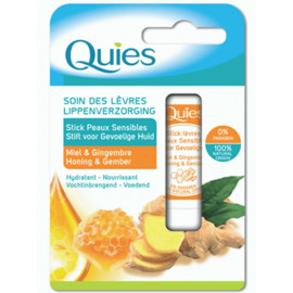 Quies soin des lèvres stick peaux sensibles miel & gingembre 4,5g - quies -221300
