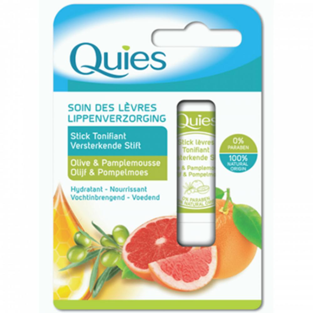 Quies soin des lèvres stick tonifiant olive & pamplemousse 4,5g Quies-221297