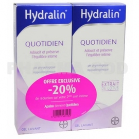 Quotidien gel lavant - 2x - 200.0 ml - gamme hydralin - hydralin -82158