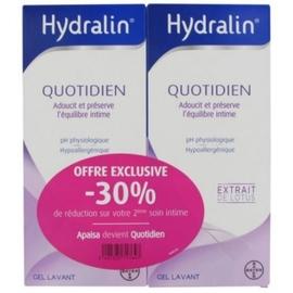 Quotidien gel lavant - 2x - 400.0 ml - gamme hydralin - hydralin -83878