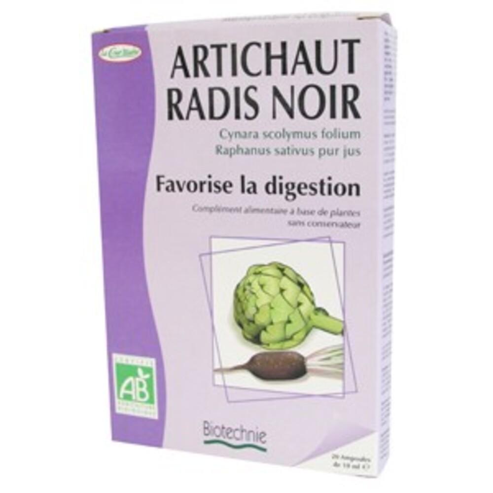 Radis noir / Artichaut Bio - 20 ampoules - divers - Biotechnie La Cour'tisane -136580
