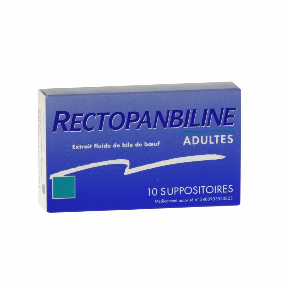 Rectopanbiline adultes - 10 suppositoires - meda pharma -194022