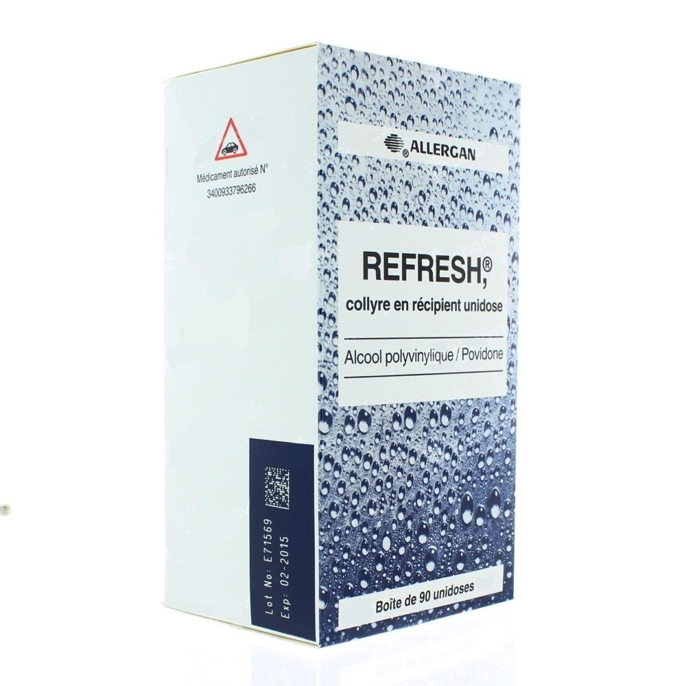 Refresh collyre - 90 unidoses - allergan -192169