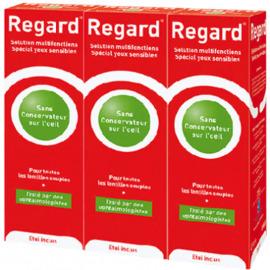 Regard solution d'entretien lentilles souples - 3x355ml - horus pharma -204999